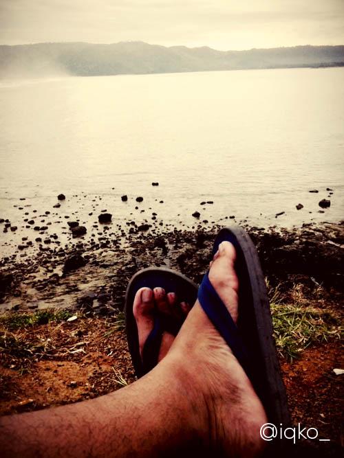 Sesi liburan di Lombok.