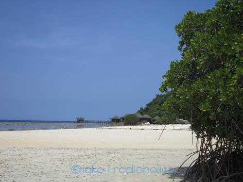 Salah satu pulau kecil