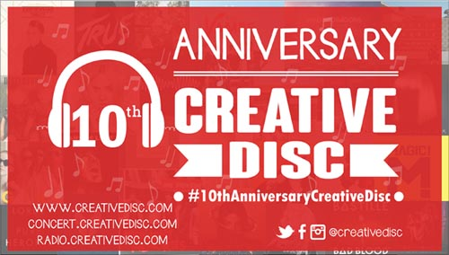 CreativeDisc 10th anniversary!