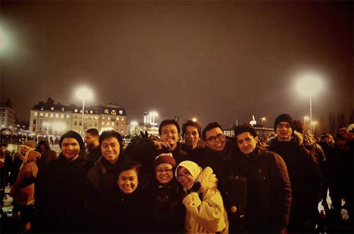 Bersama teman-teman PPI Stockholm