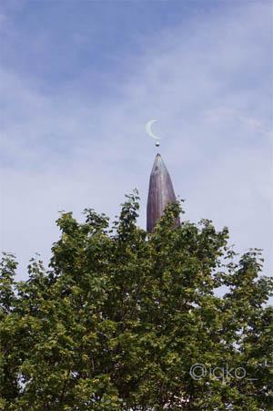 Menara masjid besar Stockholm