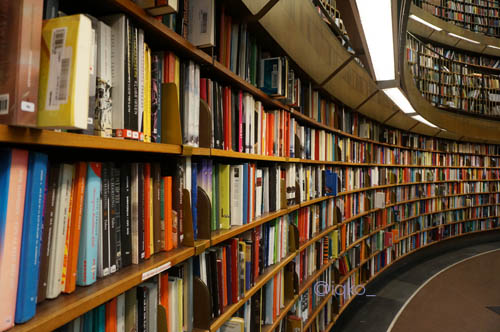 Perpustakaan kota, salah satu tempat favorit untuk menghilang sejenak.