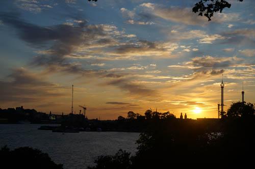 Senja terakhir musim panas di Djugården