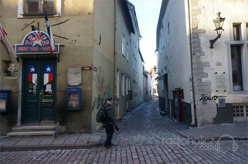 Salah satu lorong dan cobble street yang khas